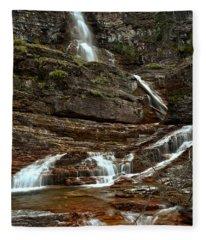 Virginia Falls Red Rocks Fleece Blanket