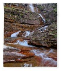 Virginia Falls Switchbacks Fleece Blanket