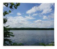Virginia Lake Fleece Blanket