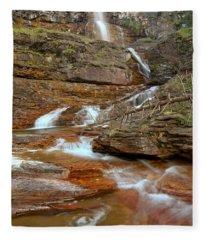 Virginia Red Rock Falls Fleece Blanket