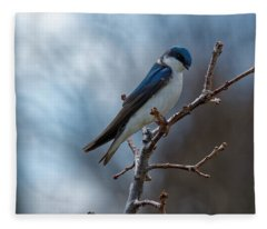 Vision In Blue Fleece Blanket