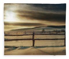 Visions Of Sun Snow Fleece Blanket