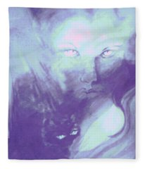 Visions Of The Night Fleece Blanket
