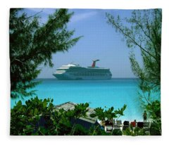 Visiting Paradise Fleece Blanket