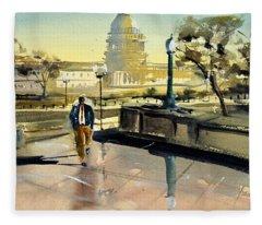 Visiting The Library Of Congress Fleece Blanket