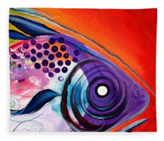 Vivid Fish Fleece Blanket