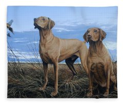 Vizslas Fleece Blanket