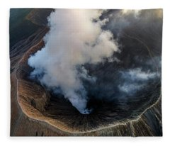 Fleece Blanket featuring the photograph Volcanic Crater From Above by Pradeep Raja Prints