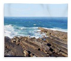 Volcanic Rock At Penguin Head Fleece Blanket