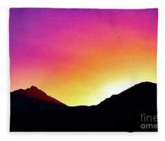 Volcanic Sunrise Fleece Blanket