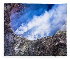 Kilauea Volcano Fleece Blanket