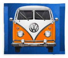 Vw Camper Fleece Blankets
