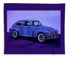Volvo Pv 544 1958 Mixed Media Fleece Blanket