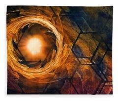 Vortex Of Fire Fleece Blanket