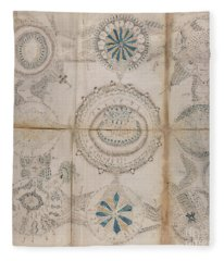 Voynich Astro 3x3 Fleece Blanket