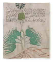 Voynich Flora 16 Fleece Blanket