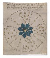 Voynich Manuscript Astro Rosette 2 Fleece Blanket