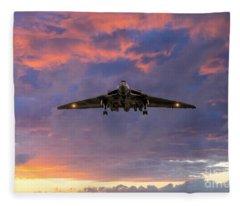 Vulcan Bomber Fleece Blanket