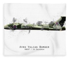 Vulcan Bomber Sketch - Xm607 Fleece Blanket