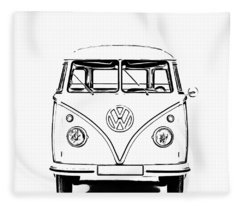 Fleece Blanket featuring the photograph Bus  by Edward Fielding