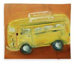 Vw Bus Fleece Blanket