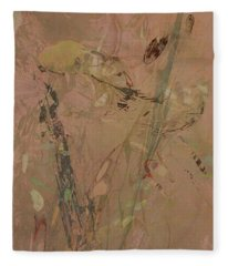 Wabi-sabi Ikebana Original Mashup Fleece Blanket