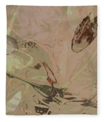 Wabi-sabi Ikebana Remix Warm Taupes Fleece Blanket