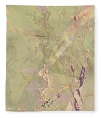Wabi Sabi Ikebana Revisited Shabby 1 Fleece Blanket