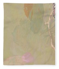 Wabi Sabi Ikebana Revisited Shabby 2 Fleece Blanket