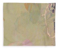 Wabi Sabi Ikebana Revisited Shabby 2 Fleece Blanket