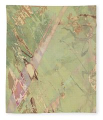 Wabi Sabi Ikebana Revisited Shabby 3 Fleece Blanket