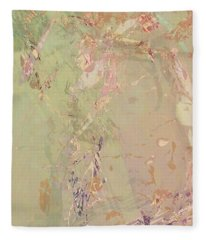 Wabi Sabi Ikebana Romantic Fall Fleece Blanket
