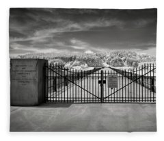 Wachusett Dam Causeway Fleece Blanket