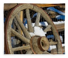 Wagon Wheel 1 Fleece Blanket