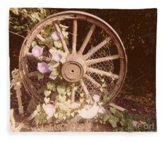 Wagon Wheel Memoir Fleece Blanket