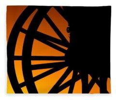 Wagon Wheel Sunset Fleece Blanket