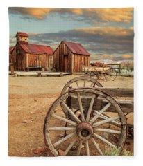 Wagons And Wheels Fleece Blanket