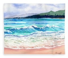 Wailua Beach Fleece Blanket
