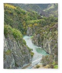 Waimakariri Gorge Fleece Blanket