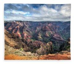 Waimea Canyon Kauai Hawaii Fleece Blanket