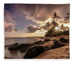 Wainiha Kauai Hawaii Sunrise  Fleece Blanket