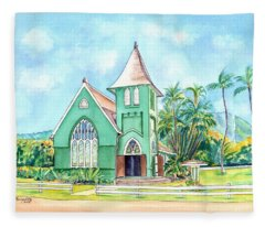 Wai'oli Hui'ia Church Fleece Blanket
