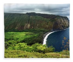 Waipio Valley Fleece Blanket