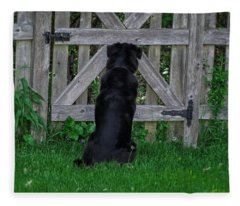 Waiting At The Gate Fleece Blanket