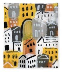 Waiting For Autumn- Expressionist Art Fleece Blanket