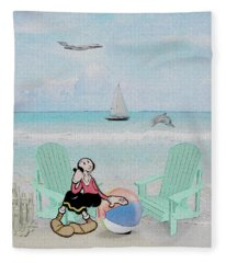 Waiting For Popeye Fleece Blanket