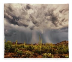 Fleece Blanket featuring the photograph Waiting For Rain by Rick Furmanek