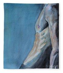 Waiting Man Fleece Blanket