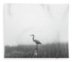 Waiting On The Fog To Clear Fleece Blanket