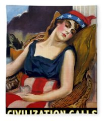 Wake Up America - Civilization Calls Fleece Blanket